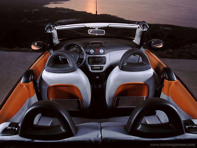 int rieur de la c3 pluriel version coup cabriolet de la citroen c3 sur. Black Bedroom Furniture Sets. Home Design Ideas